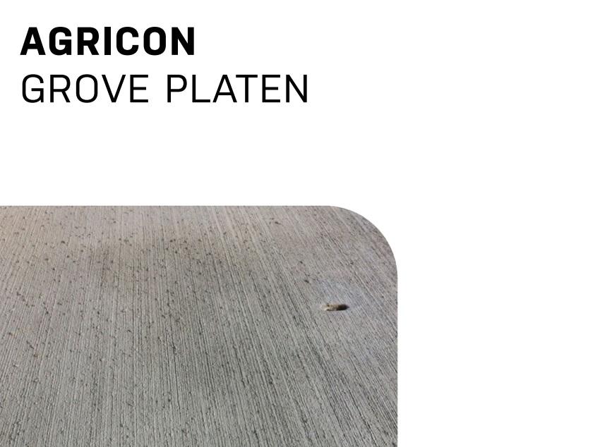 Grove platen